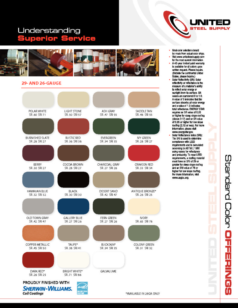 Colors Available Woodstock Metal Roofing